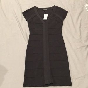 Express cap sleeve ribbed dress Small